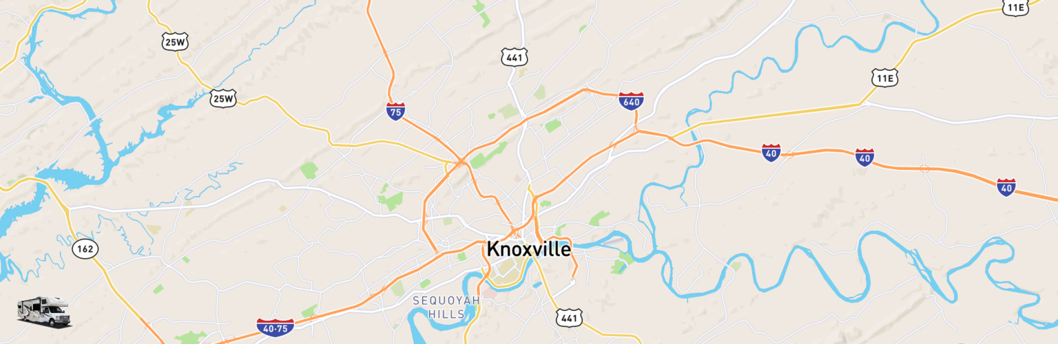 Class C RV Rentals Map Knoxville, TN