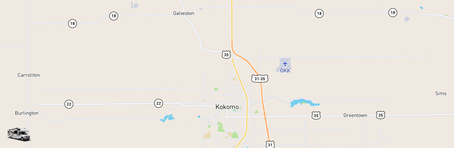 Class C RV Rentals Map Kokomo, IN