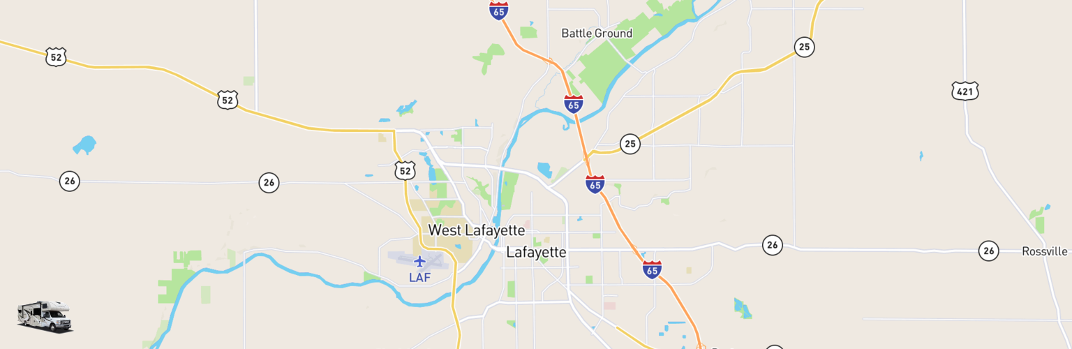Class C RV Rentals Map Lafayette, IN