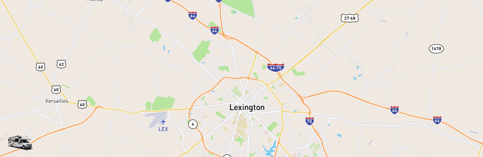 Class C RV Rentals Map Lexington, KY