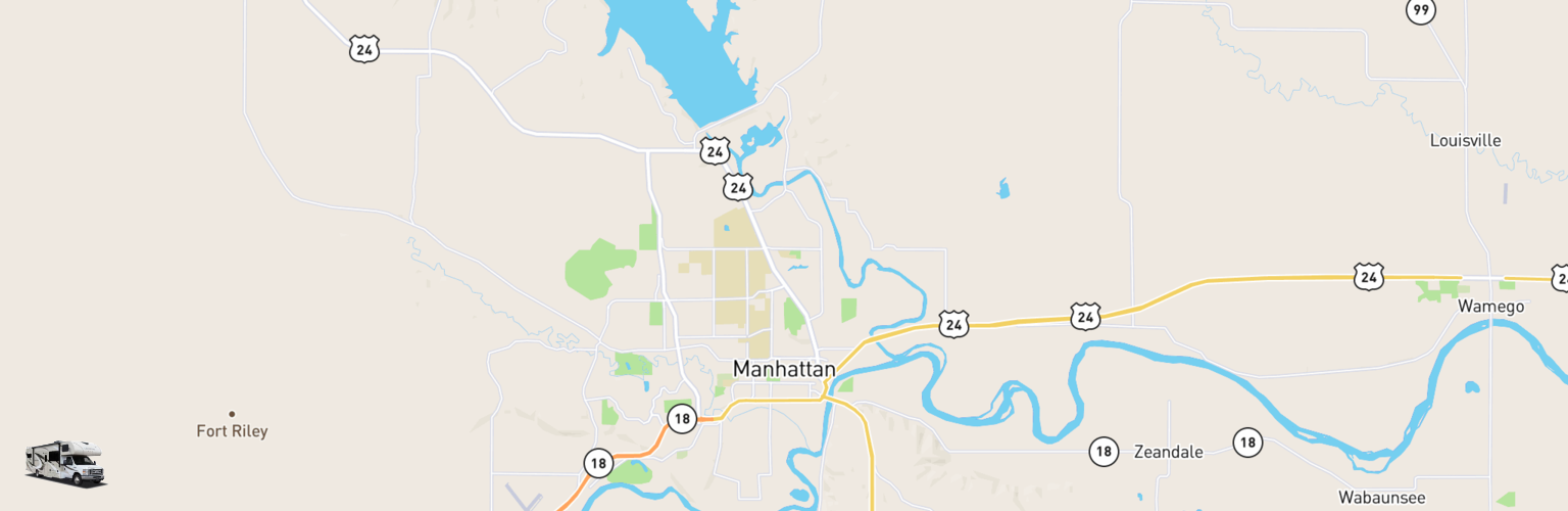 Class C RV Rentals Map Manhattan, KS