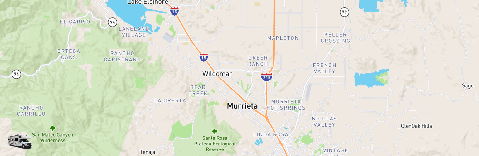 Class C RV Rentals Map Murrieta, CA