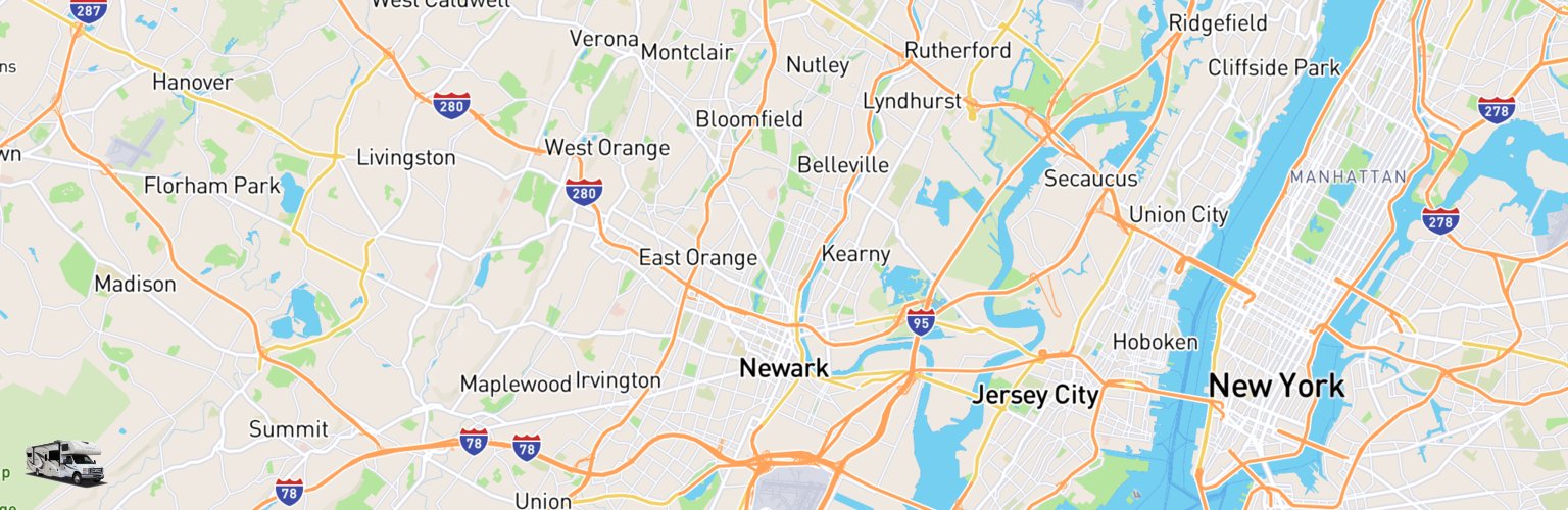Class C RV Rentals Map Newark, NJ