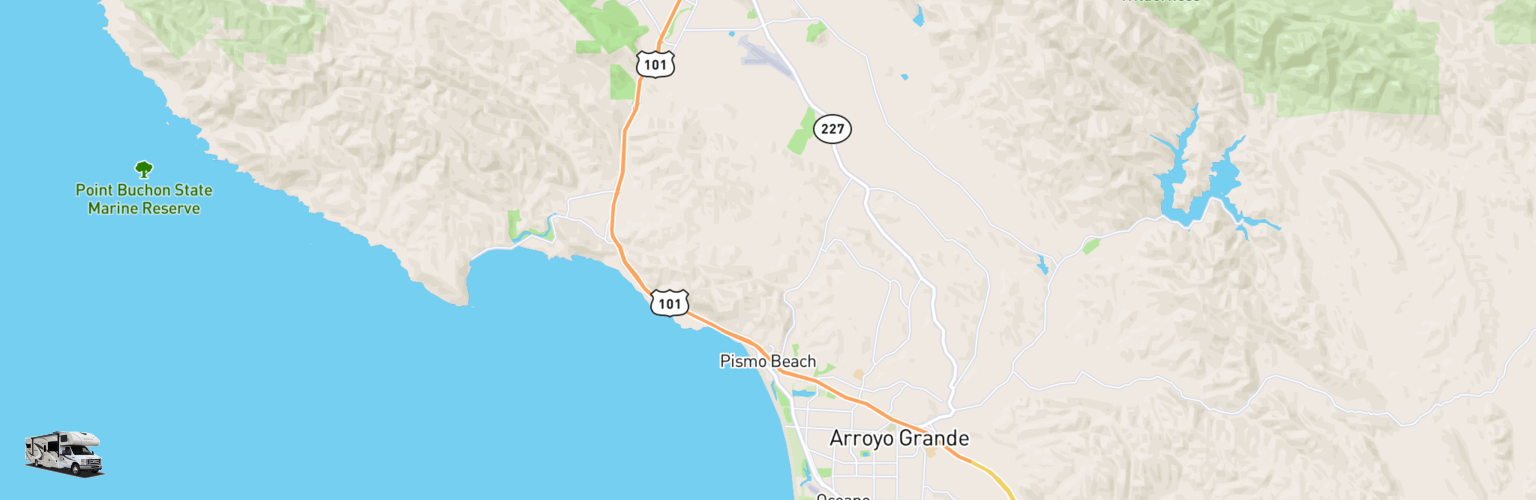 Class C RV Rentals Map Pismo Beach, CA