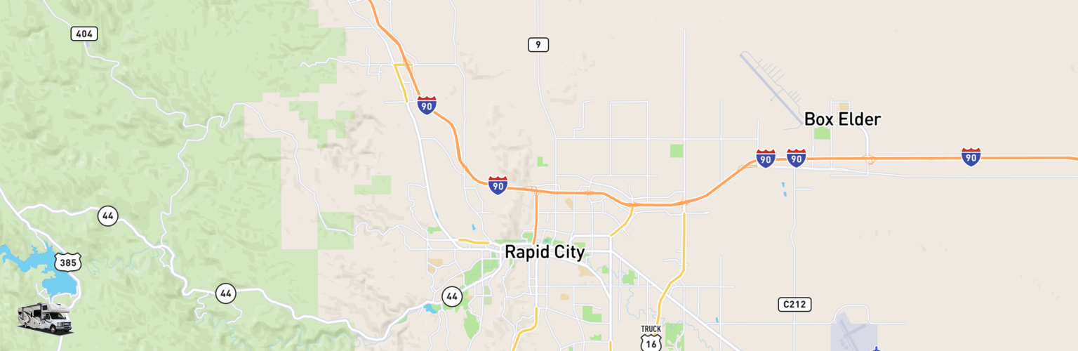 Class C RV Rentals Map Rapid City, SD