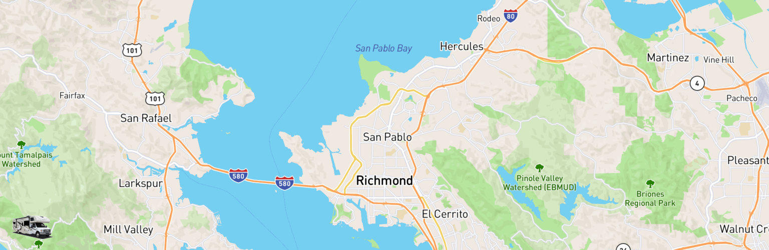 Class C RV Rentals Map Richmond, CA