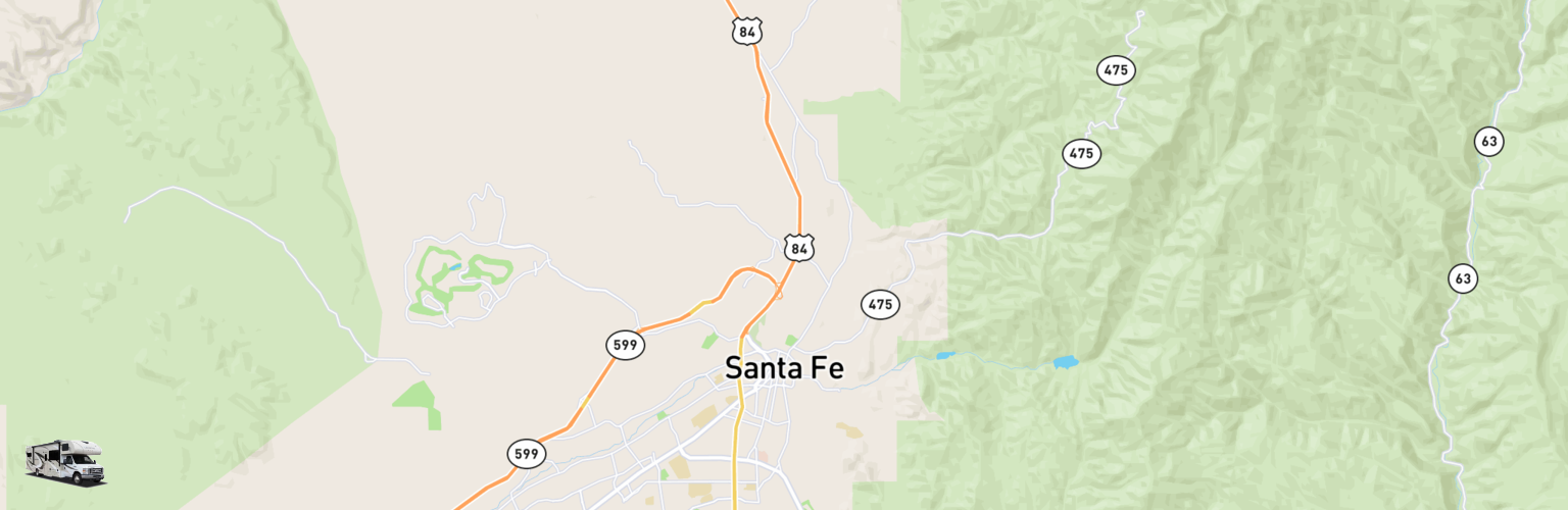 Class C RV Rentals Map Santa Fe, NM