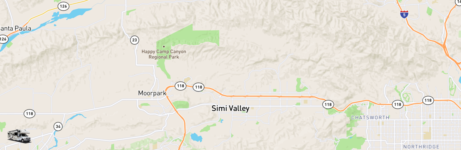 Class C RV Rentals Map Simi Valley, CA