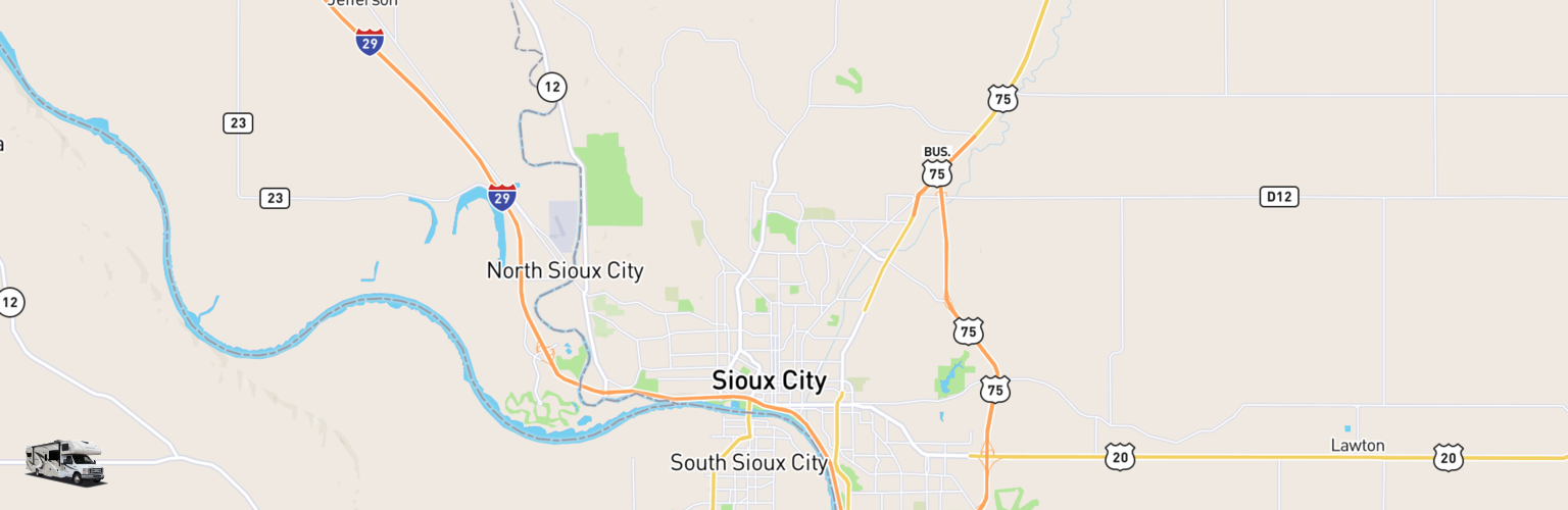 Class C RV Rentals Map Sioux City, IA