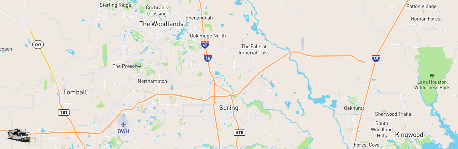 Class C RV Rentals Map Spring, TX