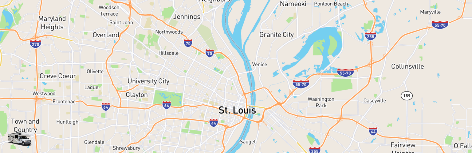 Class C RV Rentals Map St Louis, MO