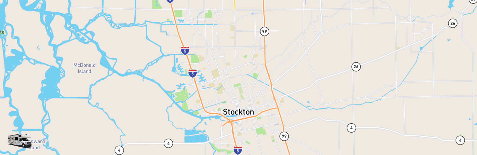 Class C RV Rentals Map Stockton, CA