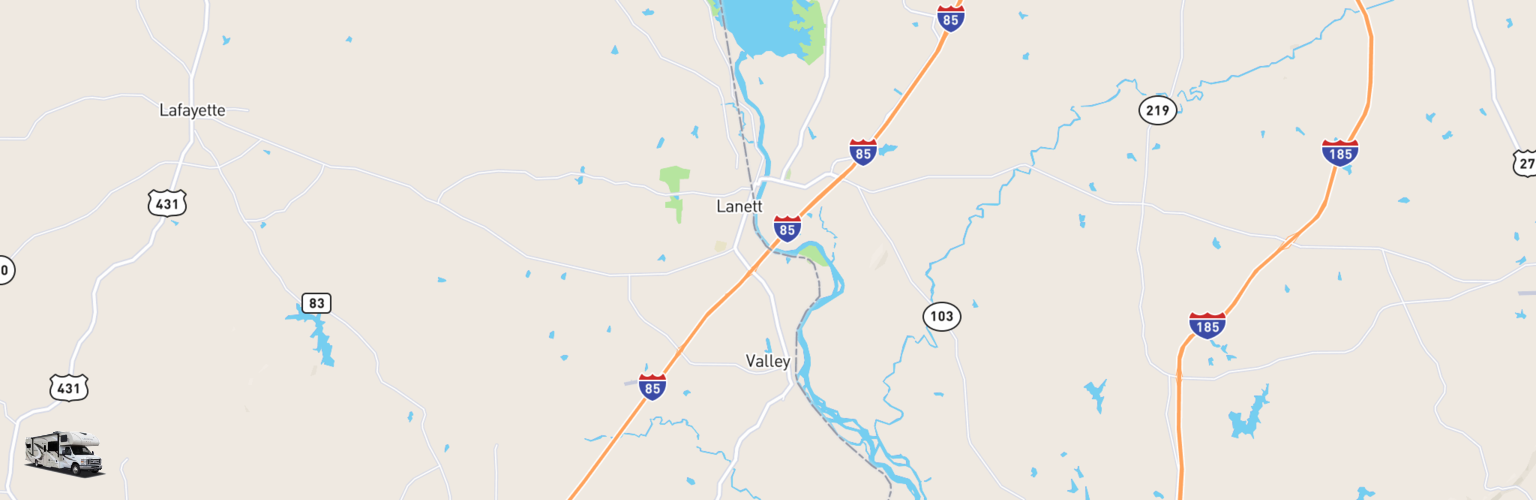 Class C RV Rentals Map Valley, AL