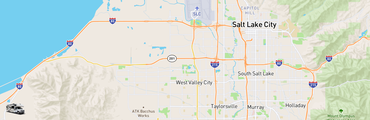 Class C RV Rentals Map West Valley City, UT