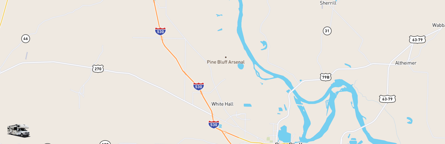 Class C RV Rentals Map White Hall, AR