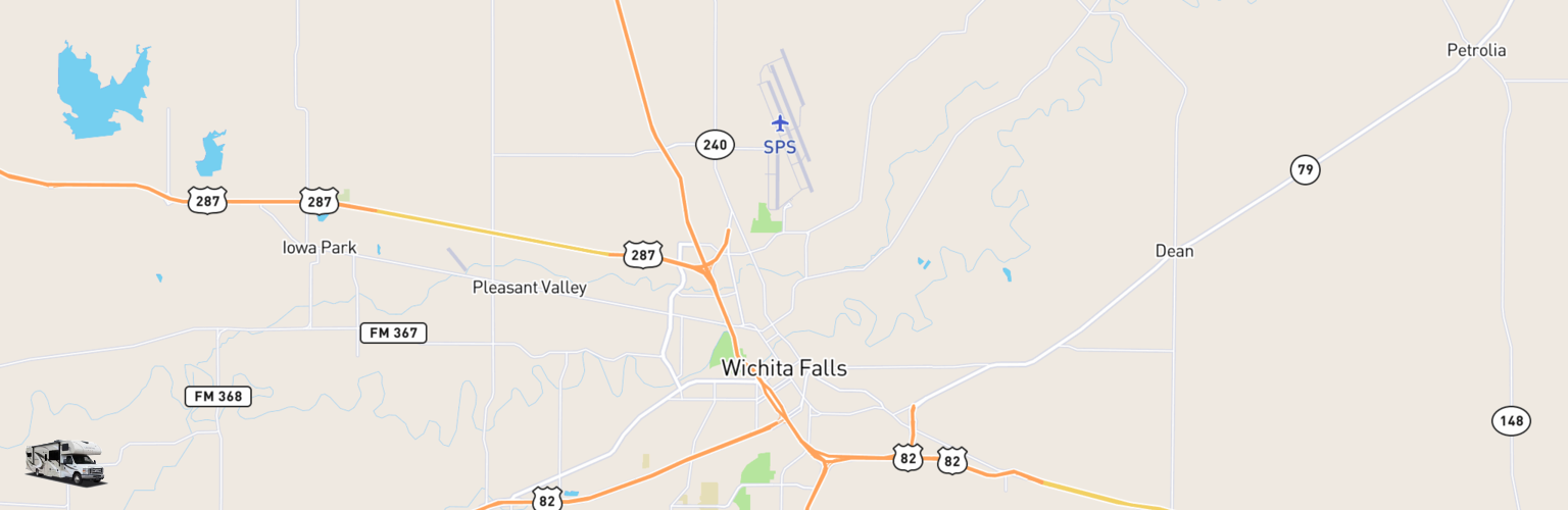 Class C RV Rentals Map Wichita Falls, TX