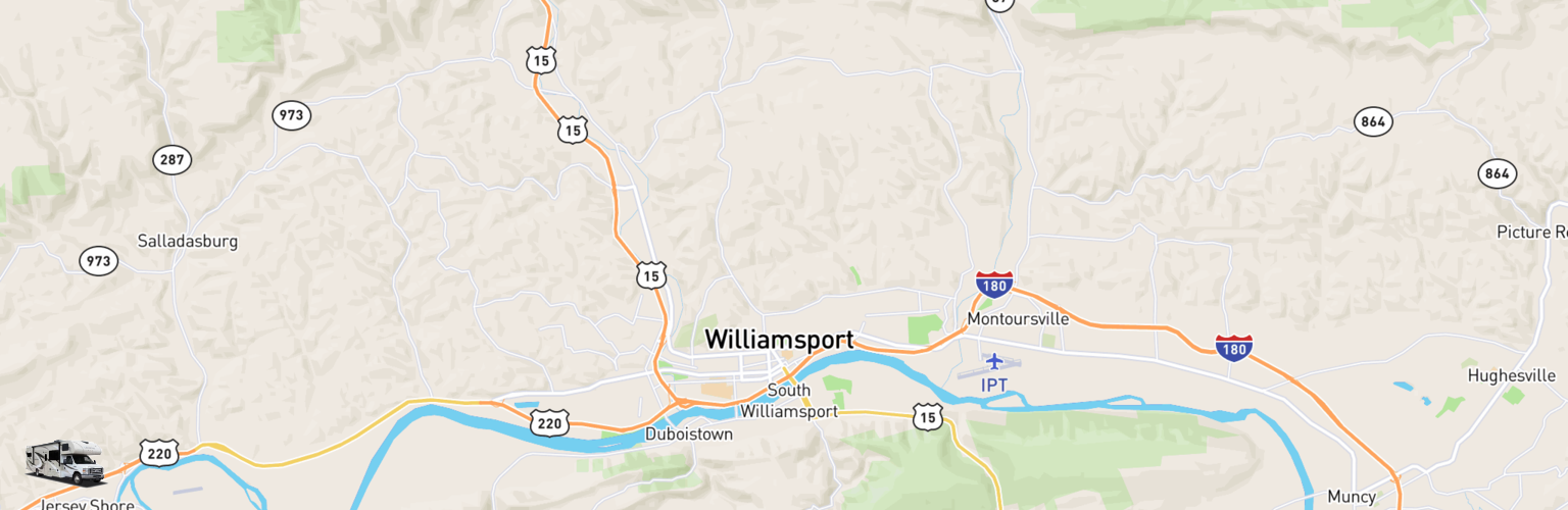 Class C RV Rentals Map Williamsport, PA