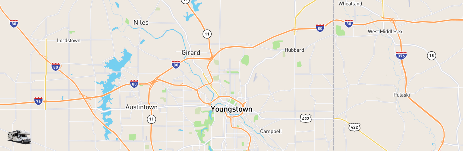 Class C RV Rentals Map Youngstown, OH