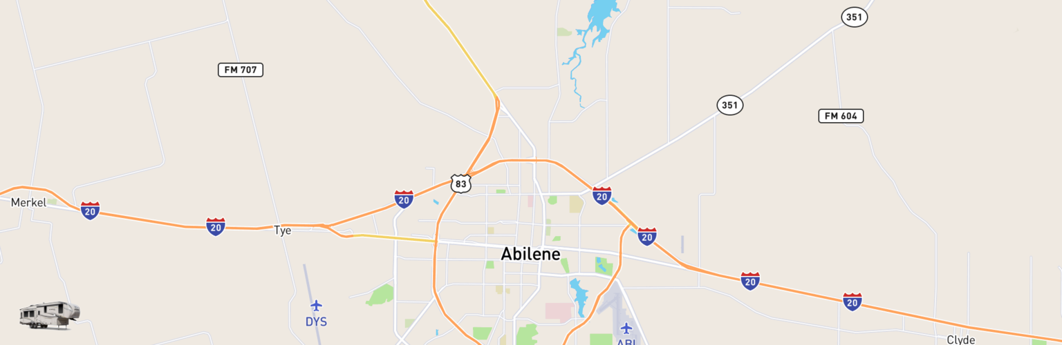 Fifth Wheel Rentals Map Abilene, TX