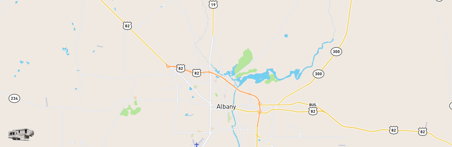 Fifth Wheel Rentals Map Albany, GA