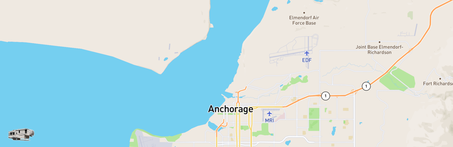 Fifth Wheel Rentals Map Anchorage, AK