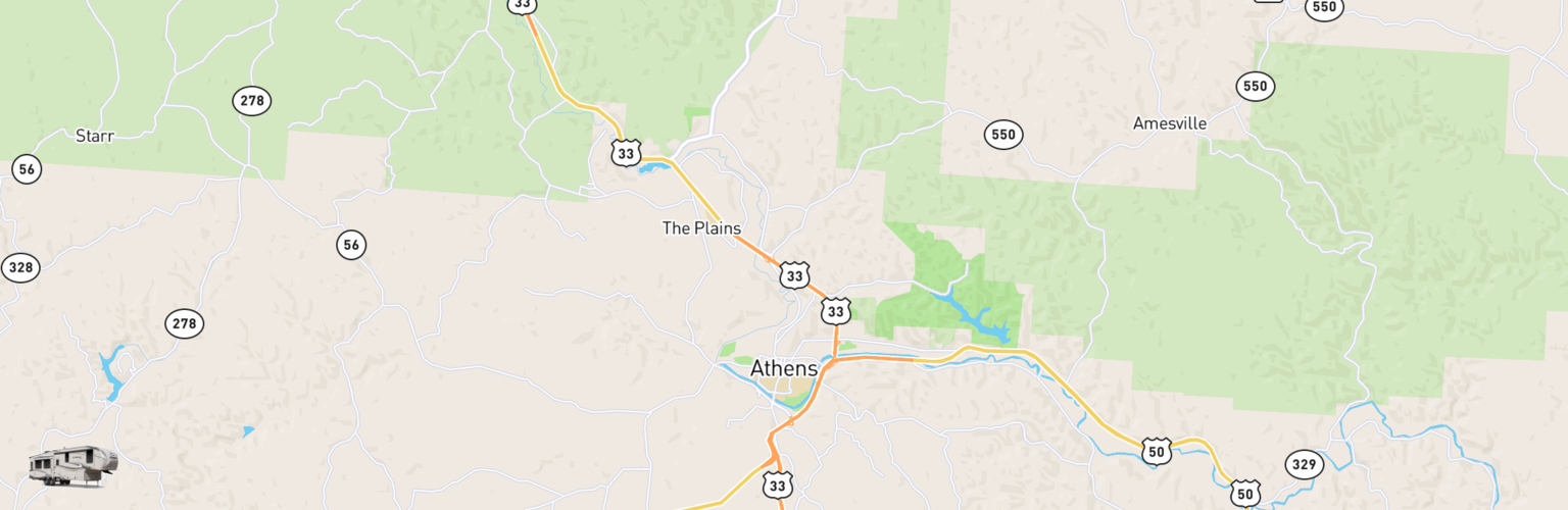 Fifth Wheel Rentals Map Athens, OH