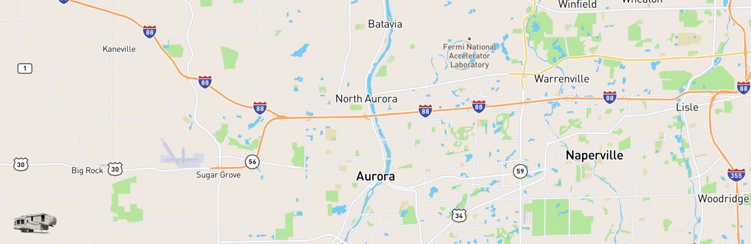 Fifth Wheel Rentals Map Aurora, IL