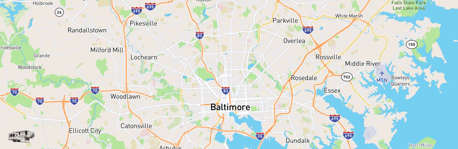 Fifth Wheel Rentals Map Baltimore, MD