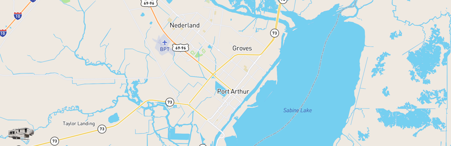 Fifth Wheel Rentals Map Beaumont Port Arthur, TX