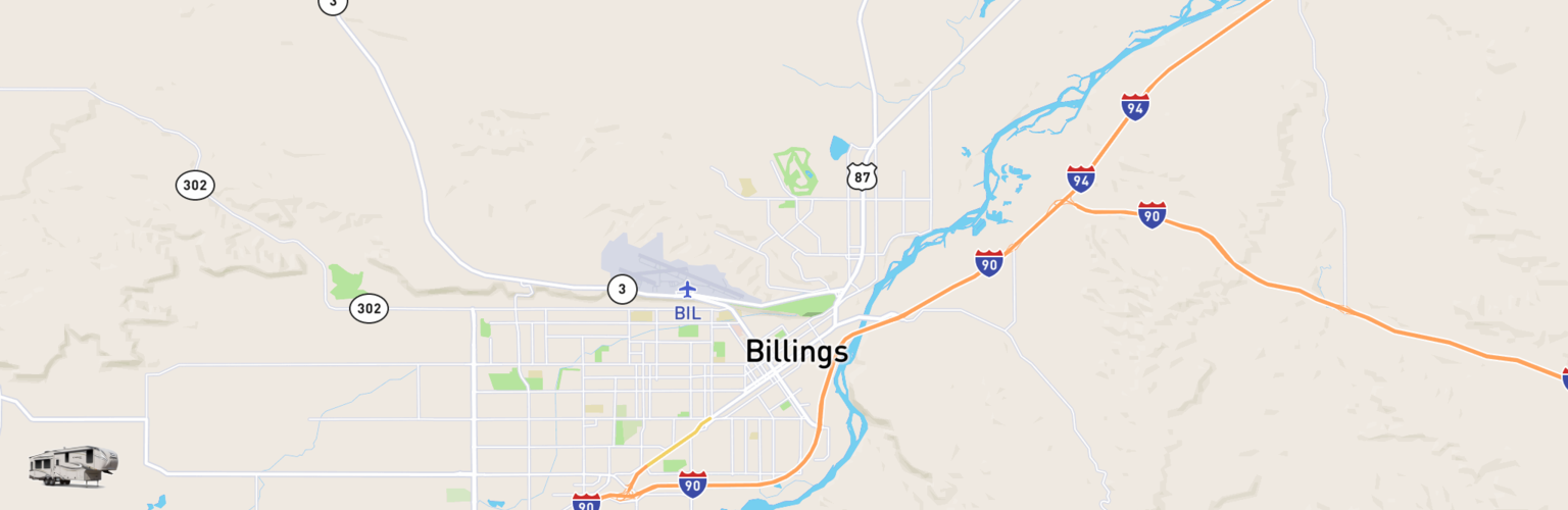Fifth Wheel Rentals Map Billings, MT