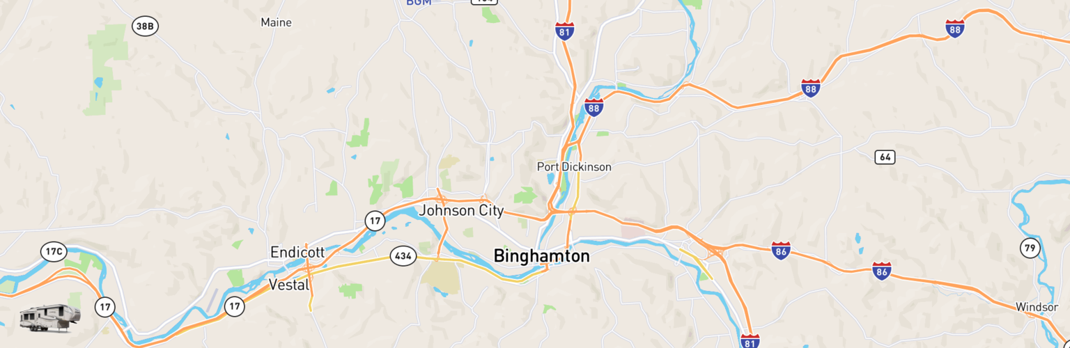 Fifth Wheel Rentals Map Binghamton, NY