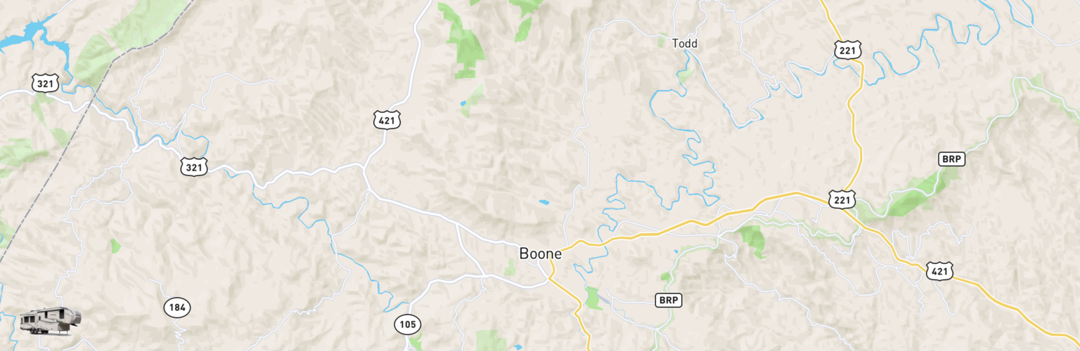 Fifth Wheel Rentals Map Boone, NC