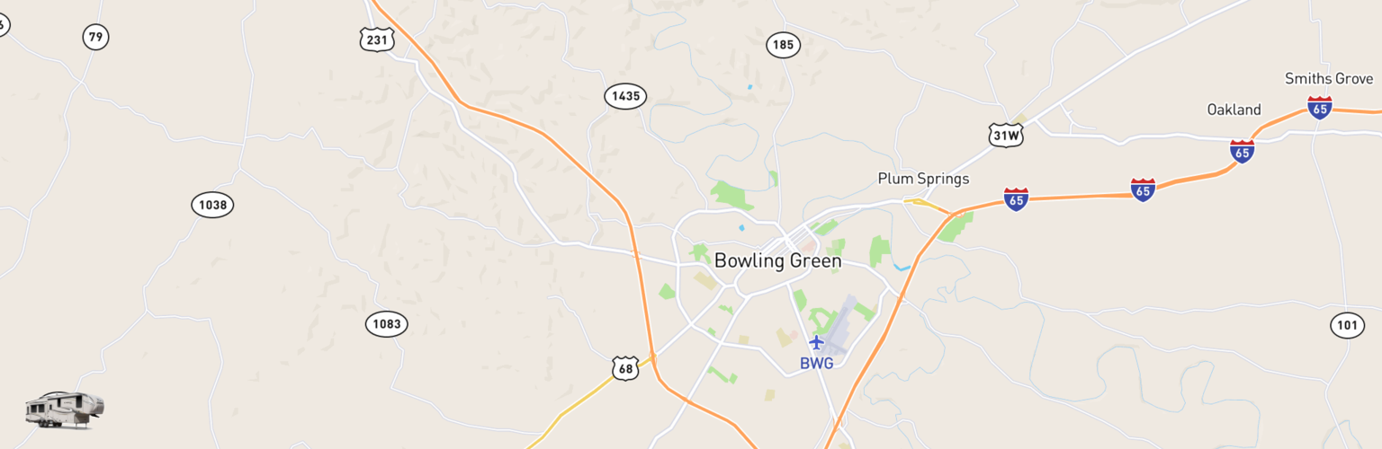 Fifth Wheel Rentals Map Bowling Green, KY