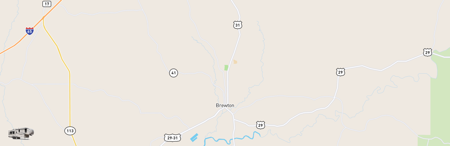 Fifth Wheel Rentals Map Brewton, AL