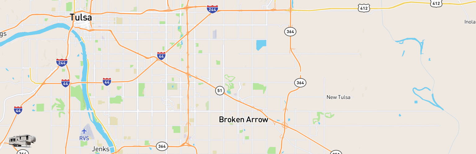 Fifth Wheel Rentals Map Broken Arrow, OK