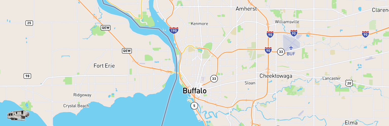 Fifth Wheel Rentals Map Buffalo, NY