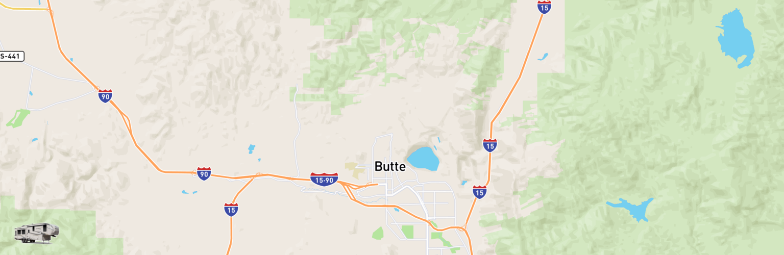 Fifth Wheel Rentals Map Butte, MT