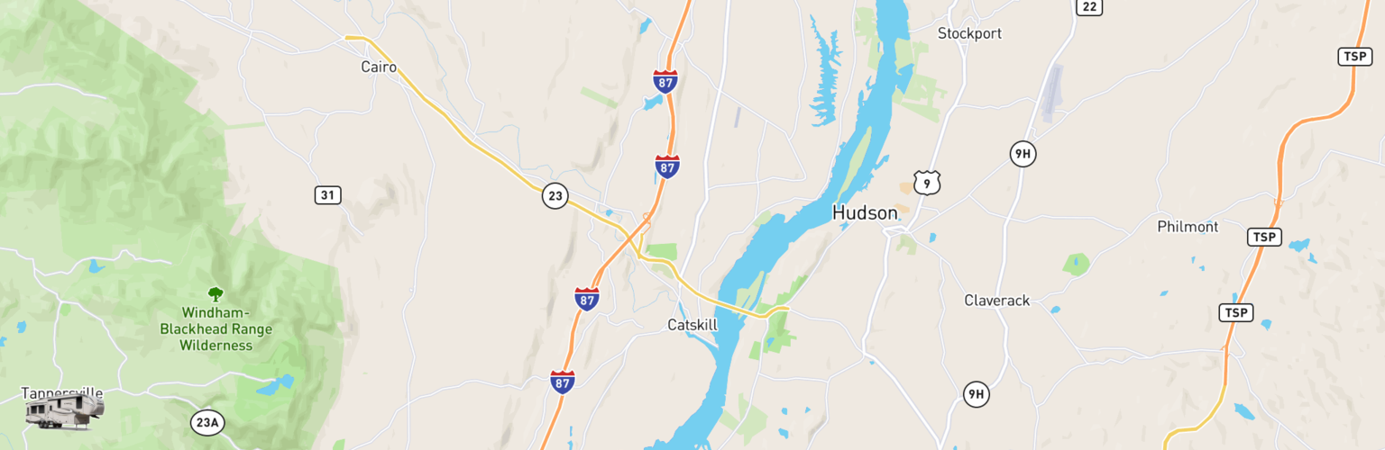 Fifth Wheel Rentals Map Catskill, NY