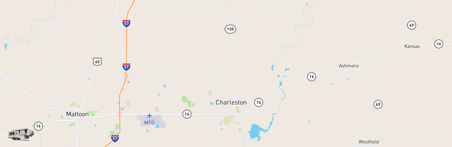 Fifth Wheel Rentals Map Charleston Mattoon, IL