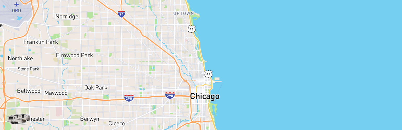 Fifth Wheel Rentals Map Chicago, IL