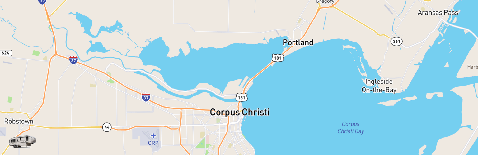 Fifth Wheel Rentals Map Corpus Christi, TX