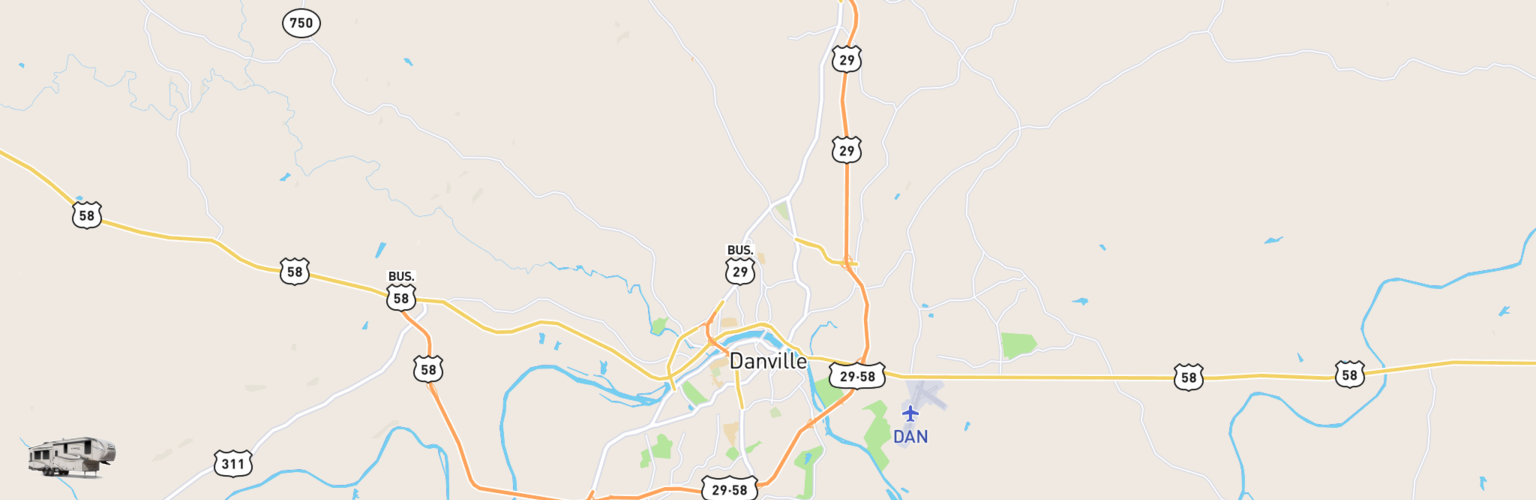 Fifth Wheel Rentals Map Danville, VA