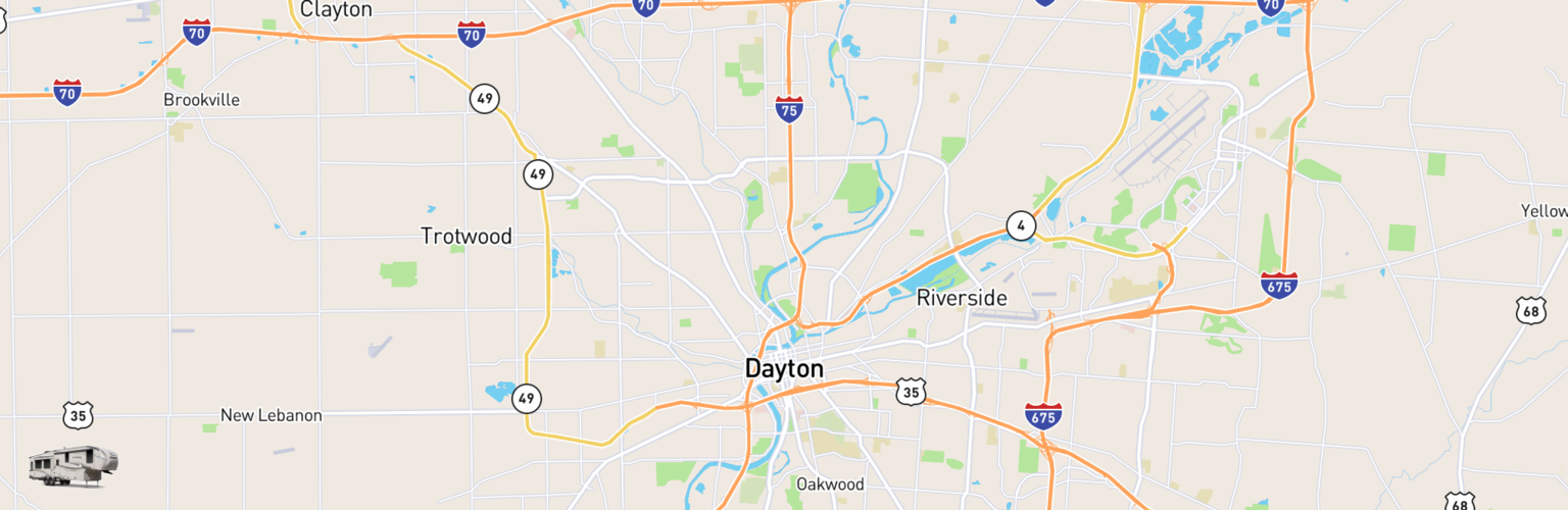 Fifth Wheel Rentals Map Dayton, OH