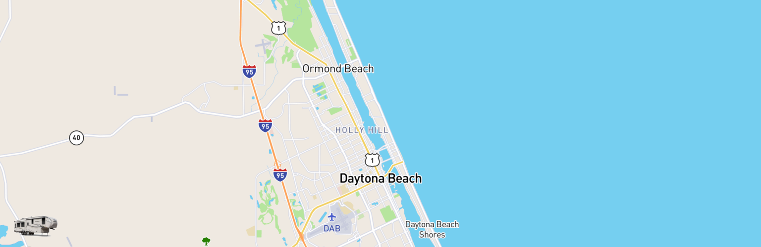 Fifth Wheel Rentals Map Daytona Beach, FL