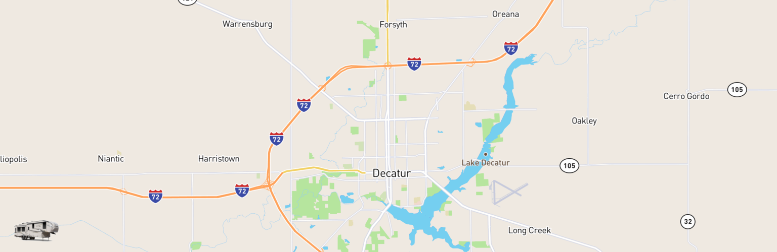 Fifth Wheel Rentals Map Decatur, IL