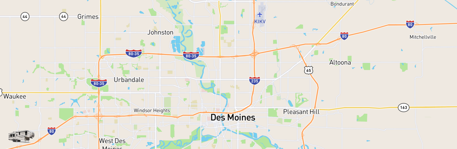Fifth Wheel Rentals Map Des Moines, IA