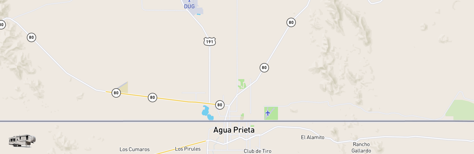 Fifth Wheel Rentals Map Douglas, AZ