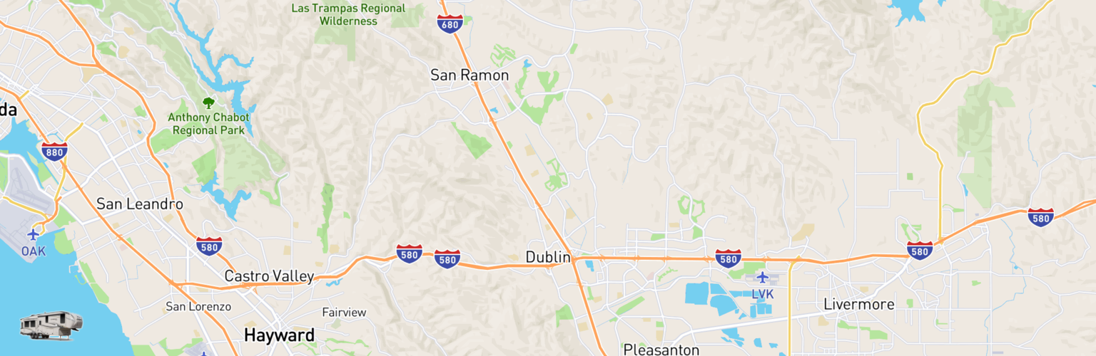 Fifth Wheel Rentals Map Dublin, CA