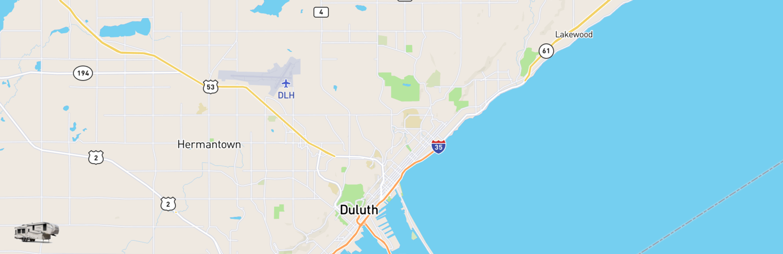 Fifth Wheel Rentals Map Duluth, MN