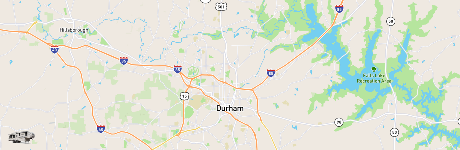 Fifth Wheel Rentals Map Durham, NC